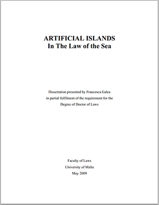 Artificial Islands in The Law of the Sea