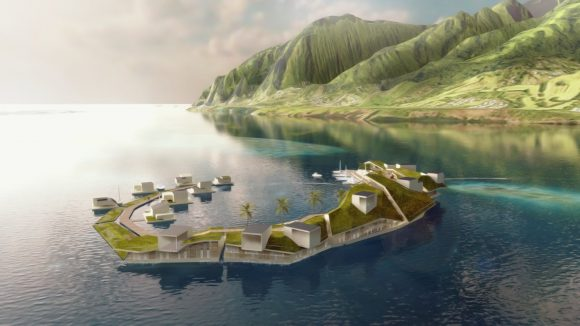 FLOATING ISLAND IN FRENCH POLYNESIA