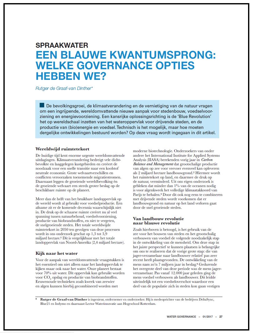 Blauwe oplossingsruimte haalt Nederland uit de impasse