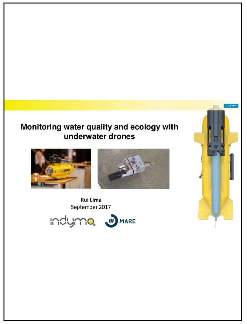 Indymo: Monitoring water quality and ecology with underwater drones