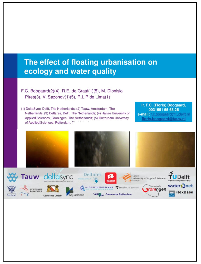 The impact of floating urbanisation on water quality and ecology