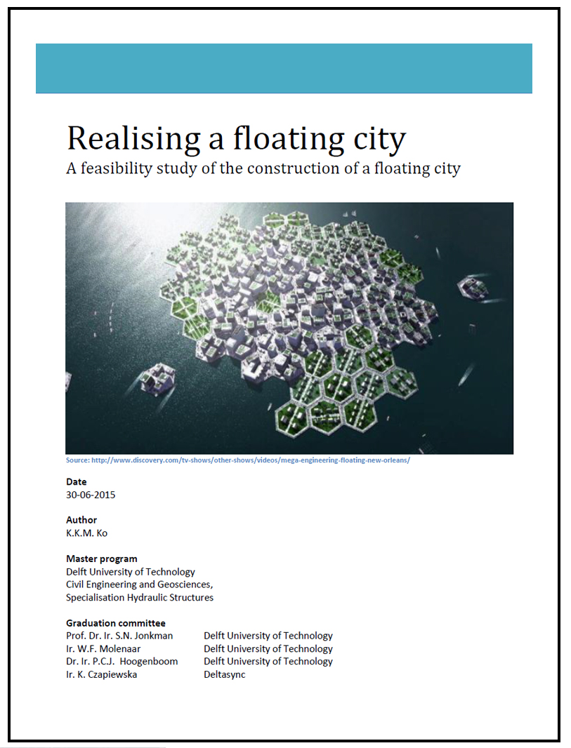 Realising a floating city